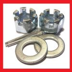 Castle Nuts, Washer and Pins Kit (BZP) - Honda Dream 50